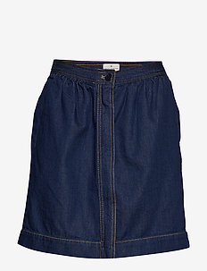 JULIE CONTRAST STITCH SKIRT WITH POCKETS - denimskjørt - rinse blue