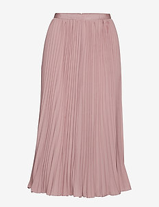 CREPE LIGHT PLEATD MIDI SKIRT - midi - cinder pink