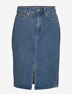 REEM DENIM 1&2 HW PENCIL SKIRT - jeansowe spódnice - mid vintage