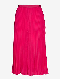 CREPE LIGHT PLEATED MIDI SKIRT - midi - raspberry sorbet