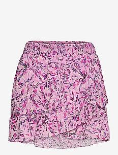 FLORES CRINKLE MINI SKIRT - kietaisuhameet - summer lavender mult