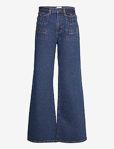 RIAH RCYCLD HGH WST FLARE JEAN - bukser med brede ben - indigo