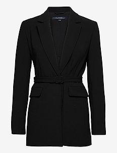 ALIA WHISPER TLRD JCKT WTH BLT - tailored blazers - black