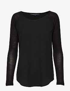 POLLY PLAINS LS - basic t-shirts - black