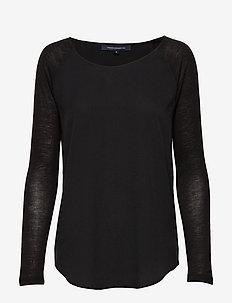 POLLY PLAINS LS - basic t-shirts - black