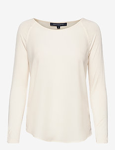 POLLY PLAINS LS - basic t-shirts - classic cream