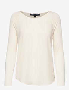 POLLY PLAINS LS - basic t-shirts - classic cream