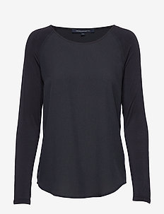 POLLY PLAINS LS - basic t-shirts - utility blue
