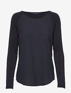 POLLY PLAINS LS - basic t-shirts - utility blue