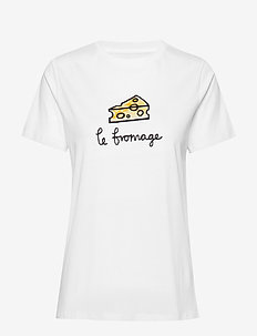 LE FROMAGE SSLV TEE - printti t-paidat - linen white