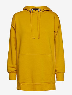 ALVAR SWEAT JERSEY LONG HOODIE - hupparit - calluna yellow