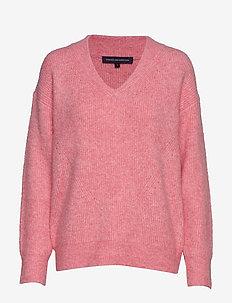 FLOSSY TERI L/S V NK JUMPER - pullover - seville sunst/wh mel