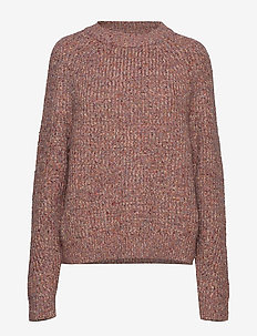 SUVIA KNITS CREW NECK JUMPER - neulepuserot - cinder pink multi