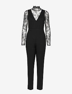 TABETHA LULA LACE JERSEY - jumpsuits - black