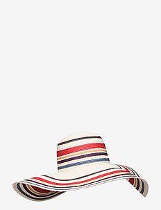 MULTI STRIPE STRAW HAT - NATURAL/MULTI