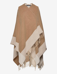 BLANKET SCARF - ponchos & capes - camel/classic cream