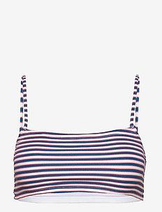 STRIPE BIKINI TOP - bikiniyläosat - sunshine ornge multi