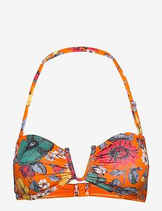 VALETUDO BANDEAU BIKINI TOP - bikiniyläosat - sunshine orange mult