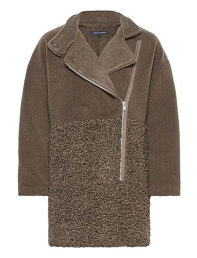 Irenea Faux Fur Coat Outerwear Faux Fur Grün FRENCH CONNECTION | FRENCH CONNECTION SALE