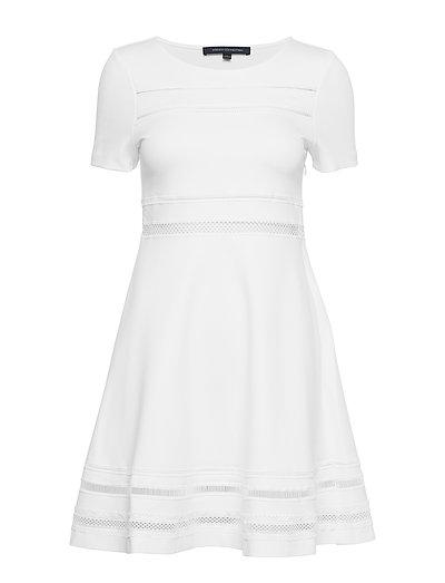 Scille Lula Jersey Short Sleeve Dress Kurzes Kleid Weiß FRENCH CONNECTION
