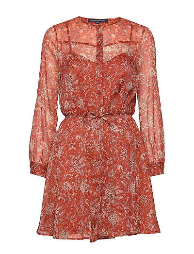 Esi Crinkle Printed Dress Kurzes Kleid Rot FRENCH CONNECTION | FRENCH CONNECTION SALE