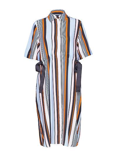Byatt Drape Striped Shirt Dres Kleid Knielang Bunt/gemustert FRENCH CONNECTION