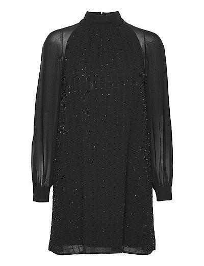 Batek Embllsh Crw Nk Sqn Dess Kurzes Kleid Schwarz FRENCH CONNECTION | FRENCH CONNECTION SALE