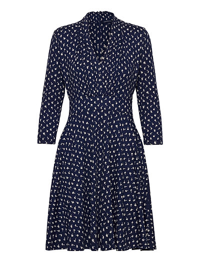 Dtsy Ltzy-Momo Mdw Jrsy V Nk D Kleid Knielang Blau FRENCH CONNECTION | FRENCH CONNECTION SALE