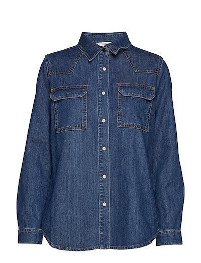 Marbilla Western Cotton Shirt Langärmliges Hemd Blau FRENCH CONNECTION