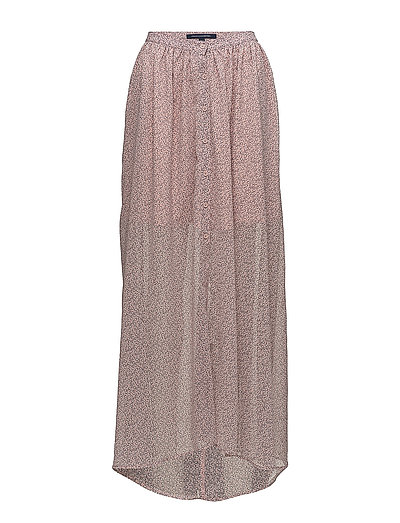 86723df55216 French Connection Elao Sheer Maxi Skirt (Teagown Multi)