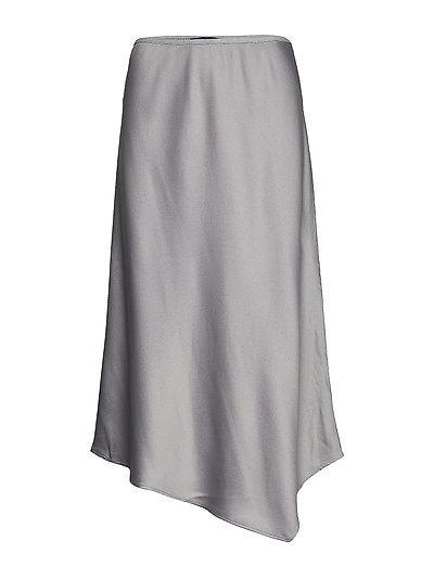 Ezmay Drape Midi Skirt Knielanges Kleid Grau FRENCH CONNECTION