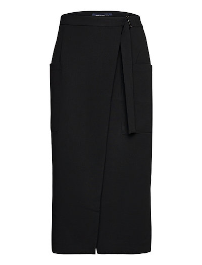 Inocenia Whisper Wrp Mdi Skirt Knielanges Kleid Schwarz FRENCH CONNECTION | FRENCH CONNECTION SALE