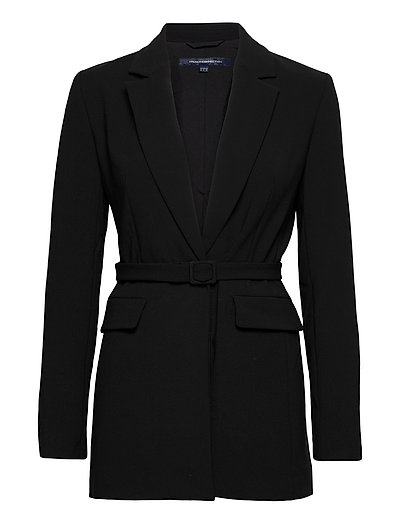 Alia Whisper Tlrd Jckt Wth Blt Blazers Business Blazers Schwarz FRENCH CONNECTION | FRENCH CONNECTION SALE