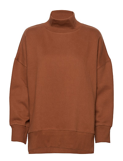 Sunday Sweat Hnck Side Split Sweat-shirt Pullover Orange FRENCH CONNECTION