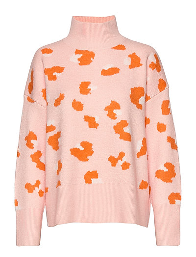Louella Hro Jcqrd Lprd Hnk Jmp Rollkragenpullover Poloshirt Orange FRENCH CONNECTION