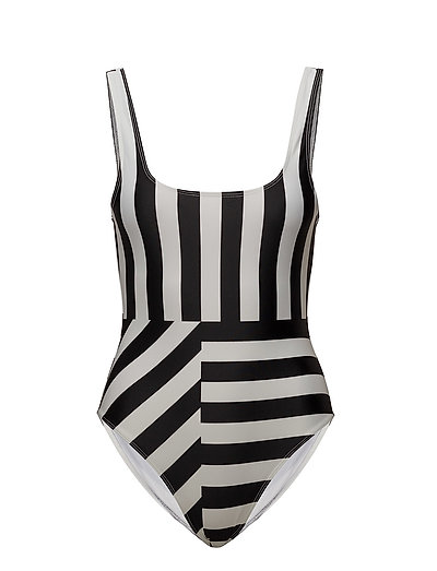 BLOCK STRIPE COSTUME - BLACK/SUMMER WHITE