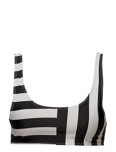 BLOCK STRIPE CROP TOP - BLACK/SUMMER WHITE