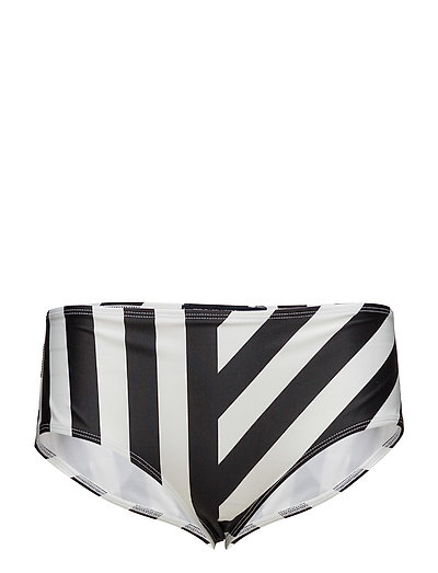 BLOCK STRIPE HIGH RISE BRIEFS - BLACK/SUMMER WHITE