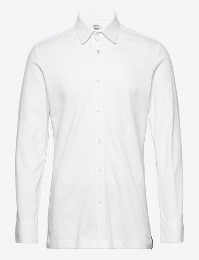 Hemmo Organic Cotton Jersey Shirt - linneskjortor - white