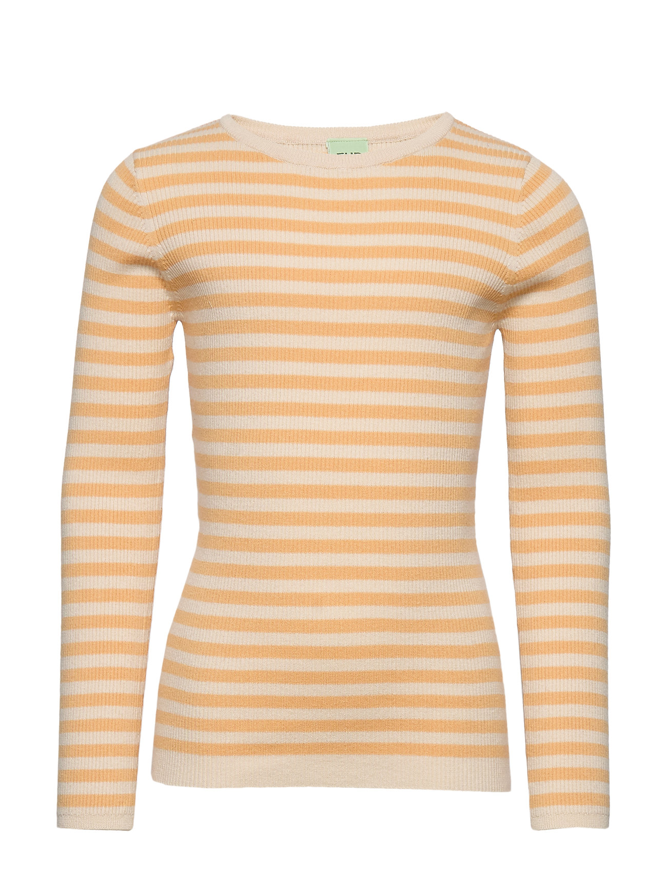 Image of Striped Rib Blouse Pullover Striktrøje Gul FUB (3356554757)
