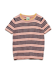 Striped T-Shirt - BLUSH/NAVY