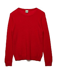 Thin rib sweater - RED