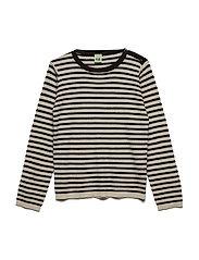 Thin Sweater - ECRU/BROWN