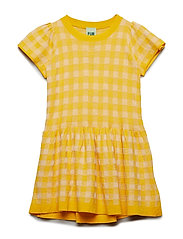 Tartan Dress - YELLOW/ECRU