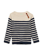 Sweater - ECRU/NAVY