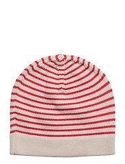 Hat - ECRU/RED