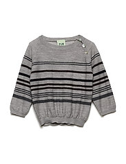 Baby Multi Striped Blouse - LIGHT GREY