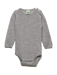 Baby Pointelle Body - LIGHT GREY