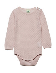 Baby Pointelle Body - ROSE