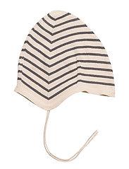 Baby Hat - ECRU/GREY